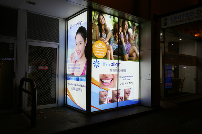 Sydney CBD Light Box Graphics