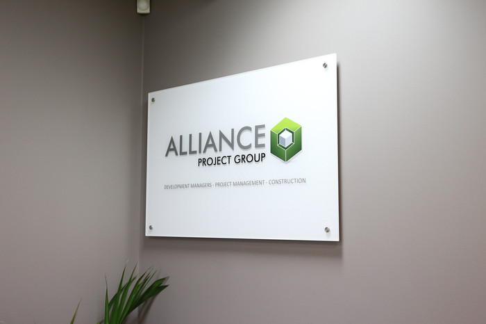 Alliance Project Group Reception Sign