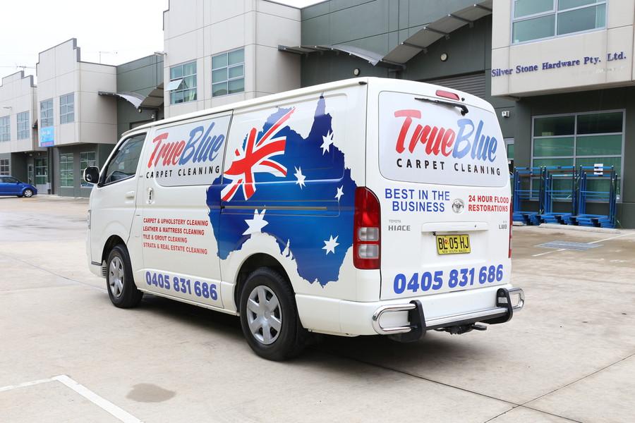 TrueBlue Van Signage