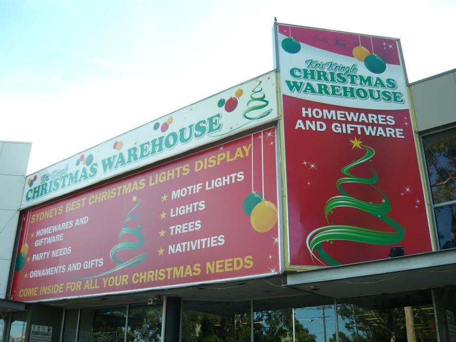 Christmas Warehouse Banner with Kedar Roping & Sail Track