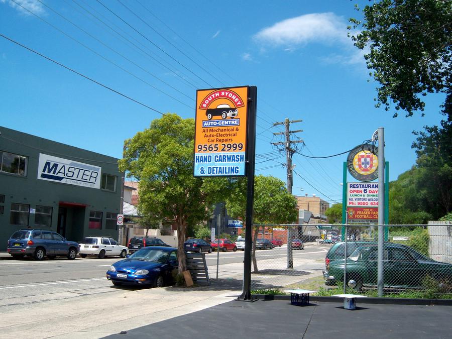 South Sydney Auto Centre Light Box SAV