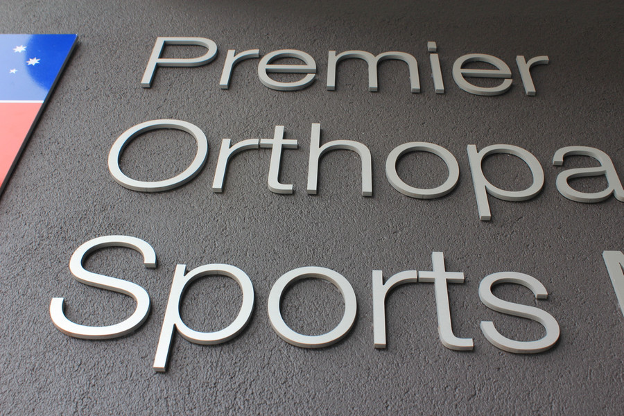 Premier Orthopaedics Sports Medicine Aluminium 3D Sign