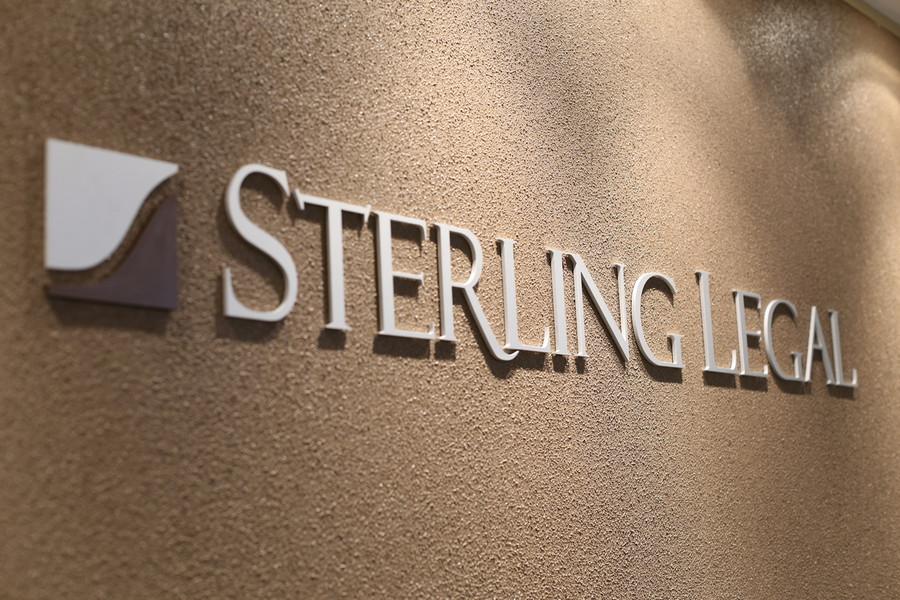 Annodised Aluminium Sterling Legal Reception Sign