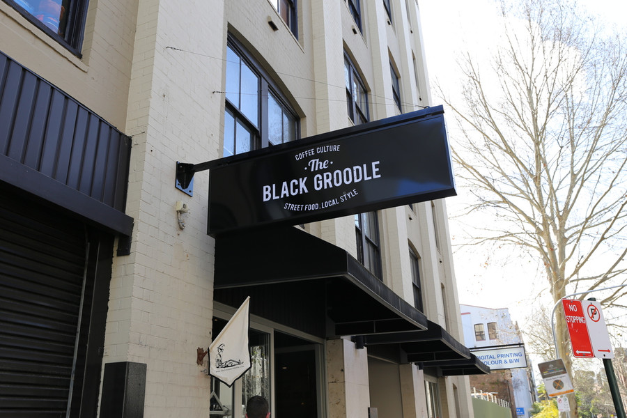 The Black Groodle Broadway Light Box