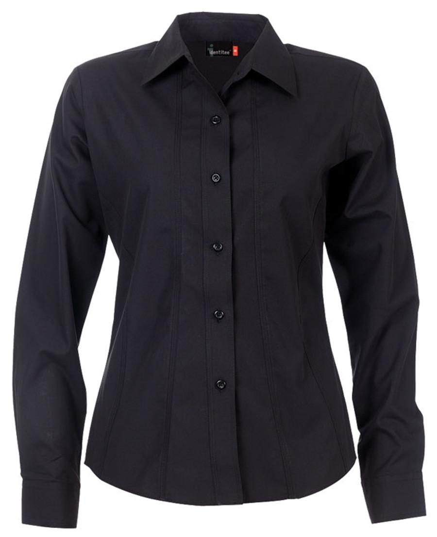 Ladies Aston L/S Sleeves Business Shirt (Black)