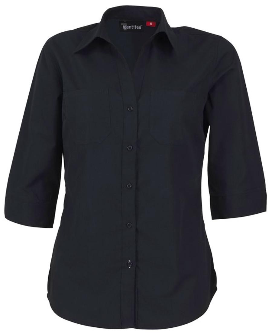 Ladies Harley 3/4 Sleeves Business Shirt (Ink)