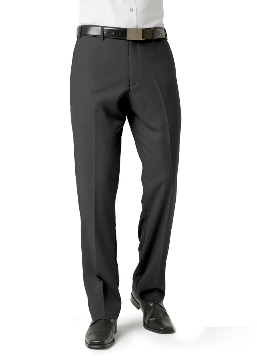 Mens Flat Front Pants (Charcoal)