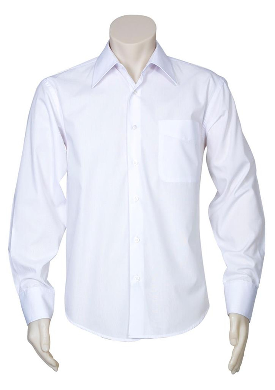 Mens L/S Metro Business Shirt (White)