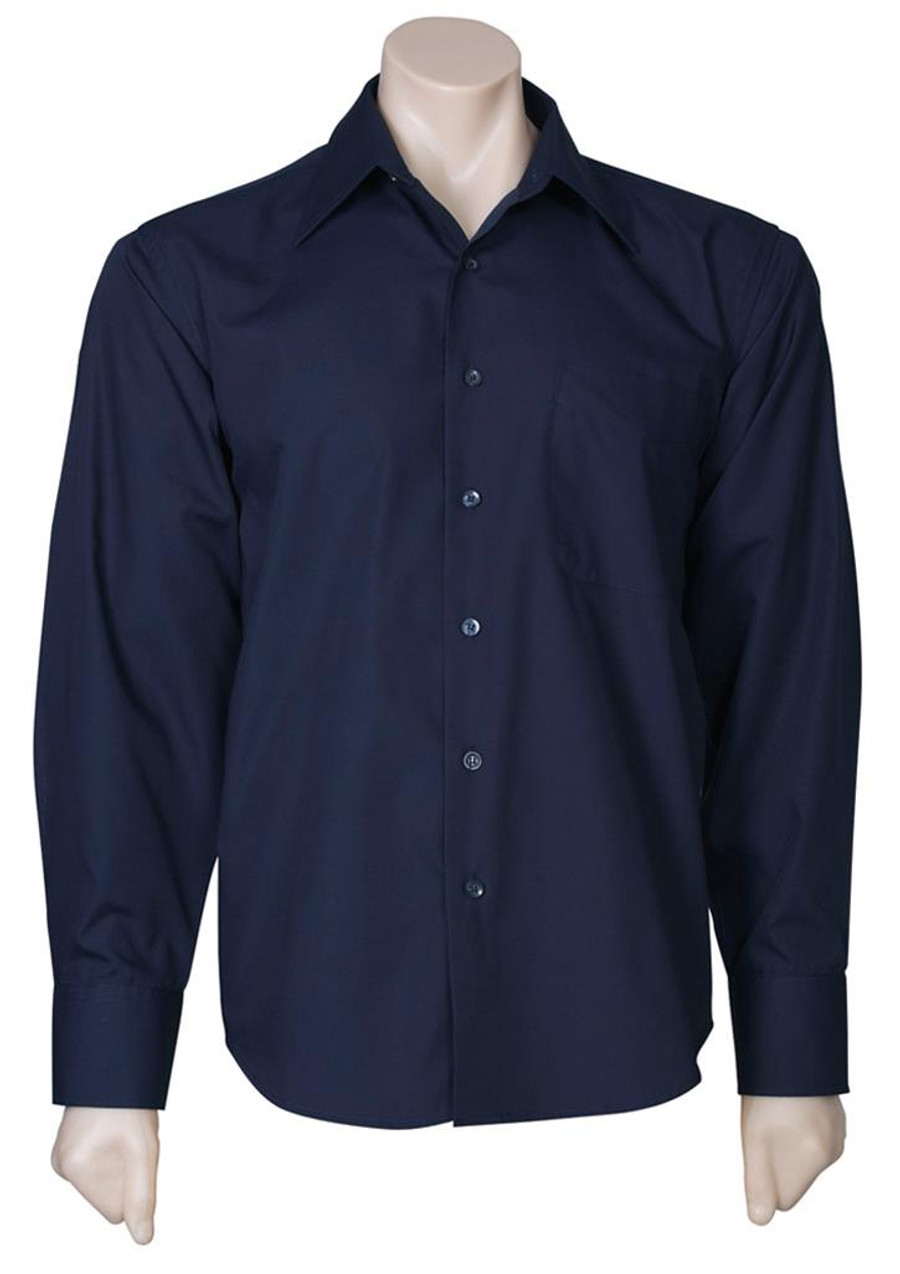Mens L/S Metro Business Shirt (Navy)
