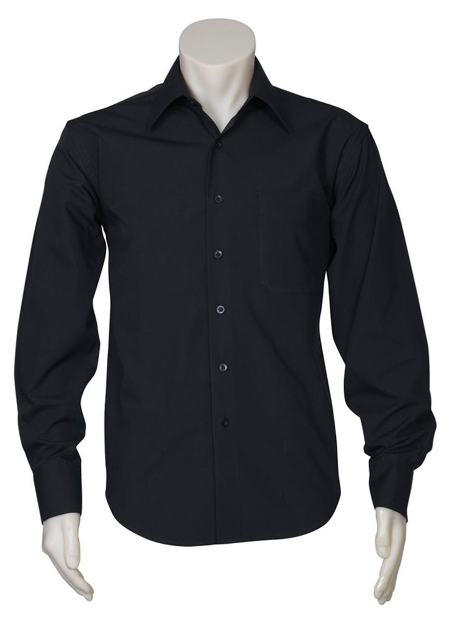 Mens L/S Metro Business Shirt (Black)