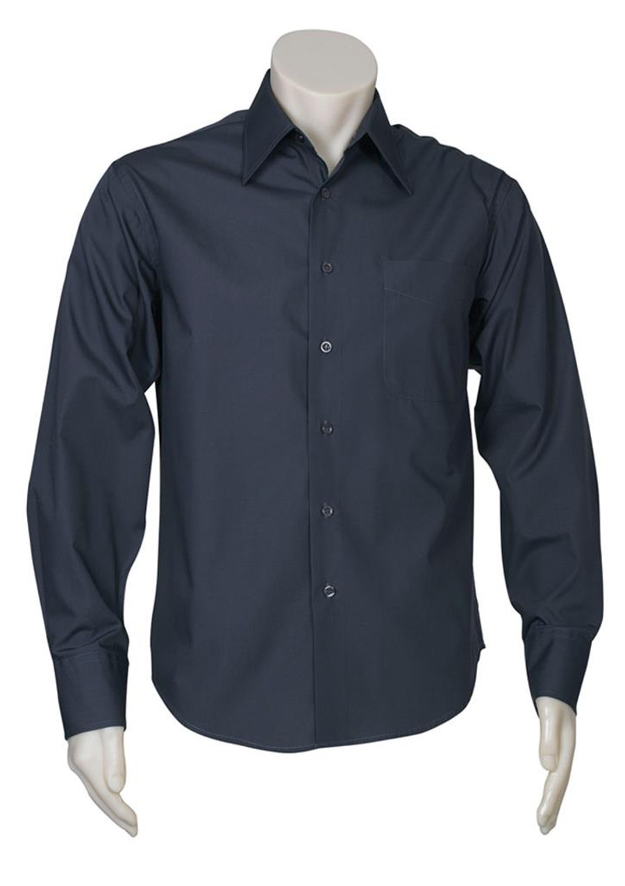 Mens L/S Metro Business Shirt (Charcoal)
