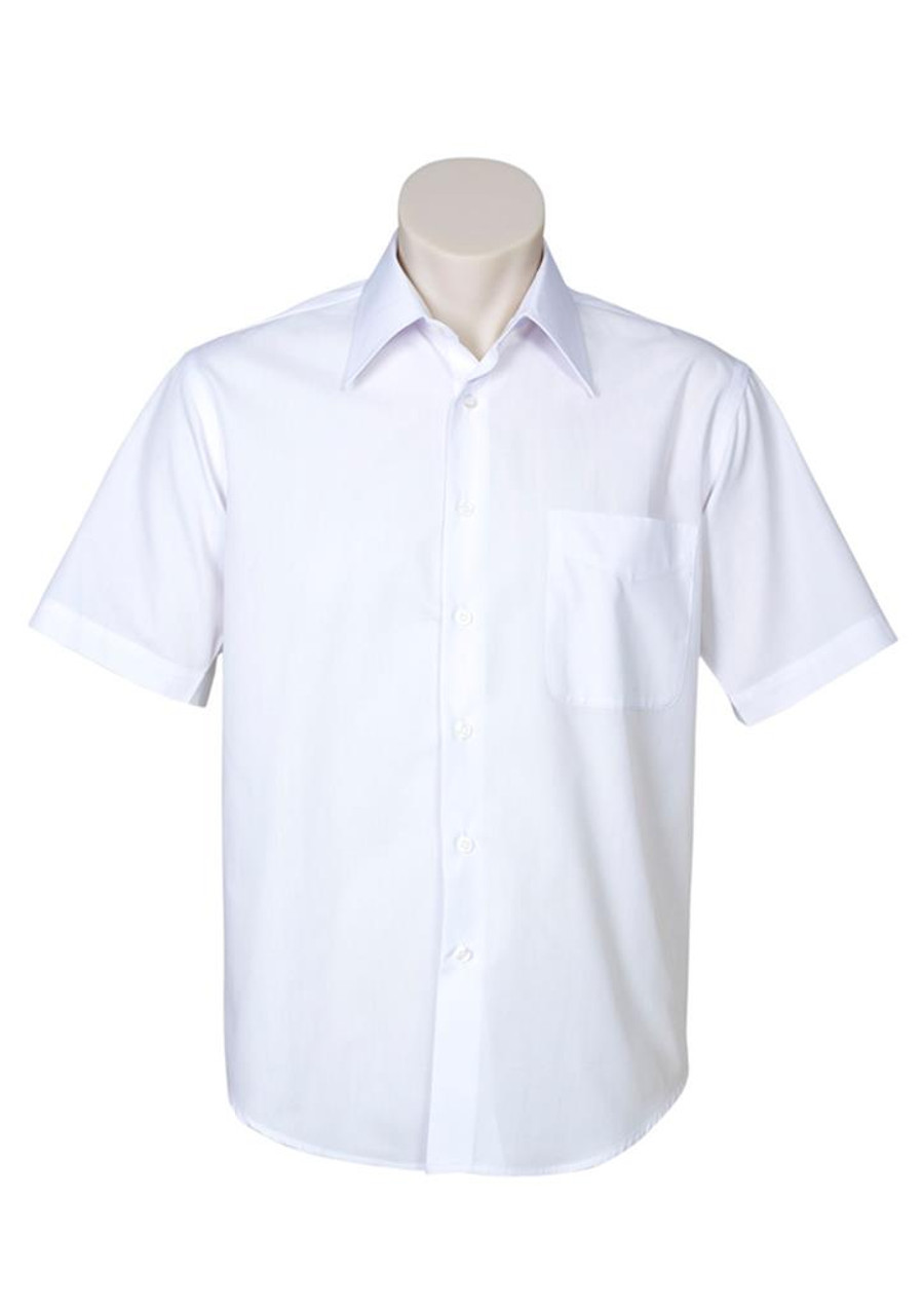 Mens S/S Metro Business Shirt (White)
