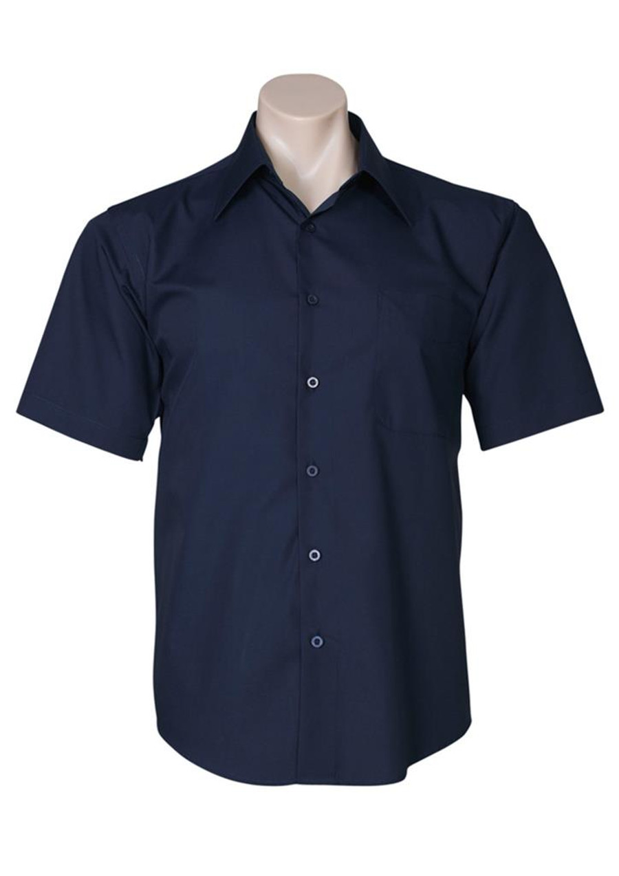 Mens S/S Metro Business Shirt (Navy)