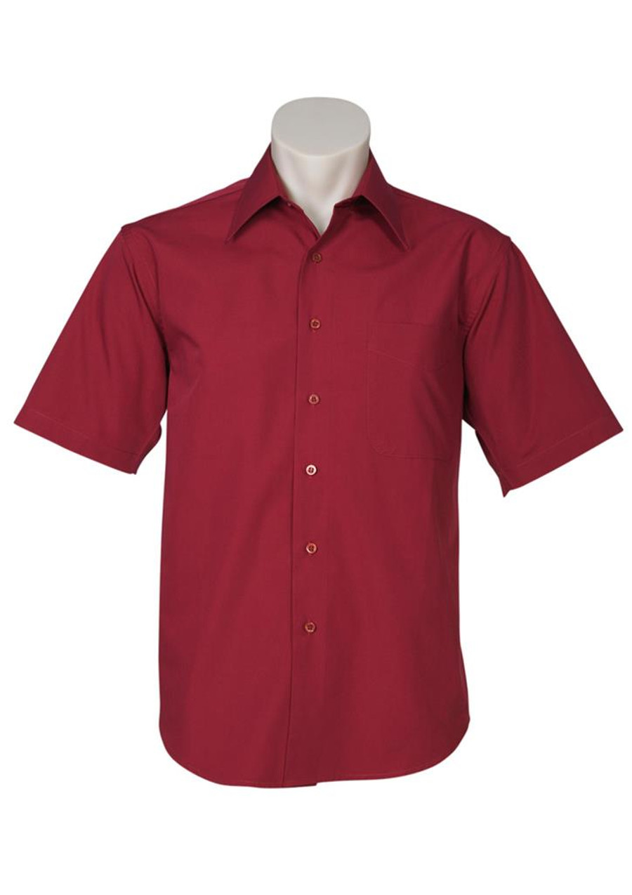 Mens S/S Metro Business Shirt (Cherry)