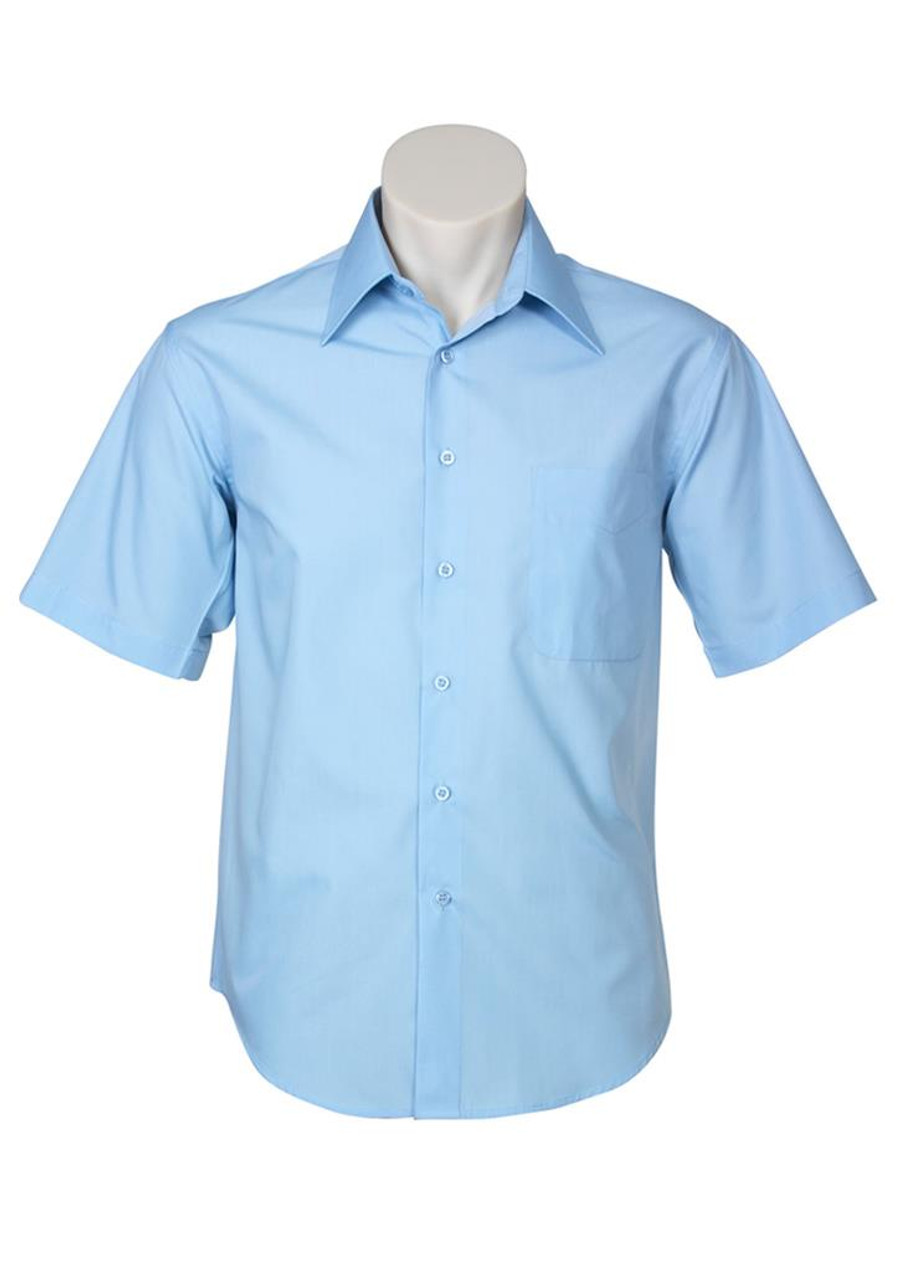 Mens S/S Metro Business Shirt (Sky)