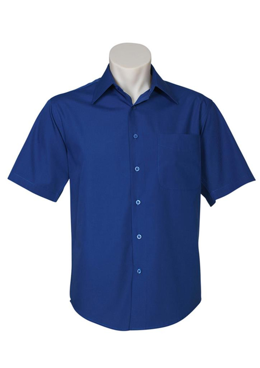 Mens S/S Metro Business Shirt (Royal)