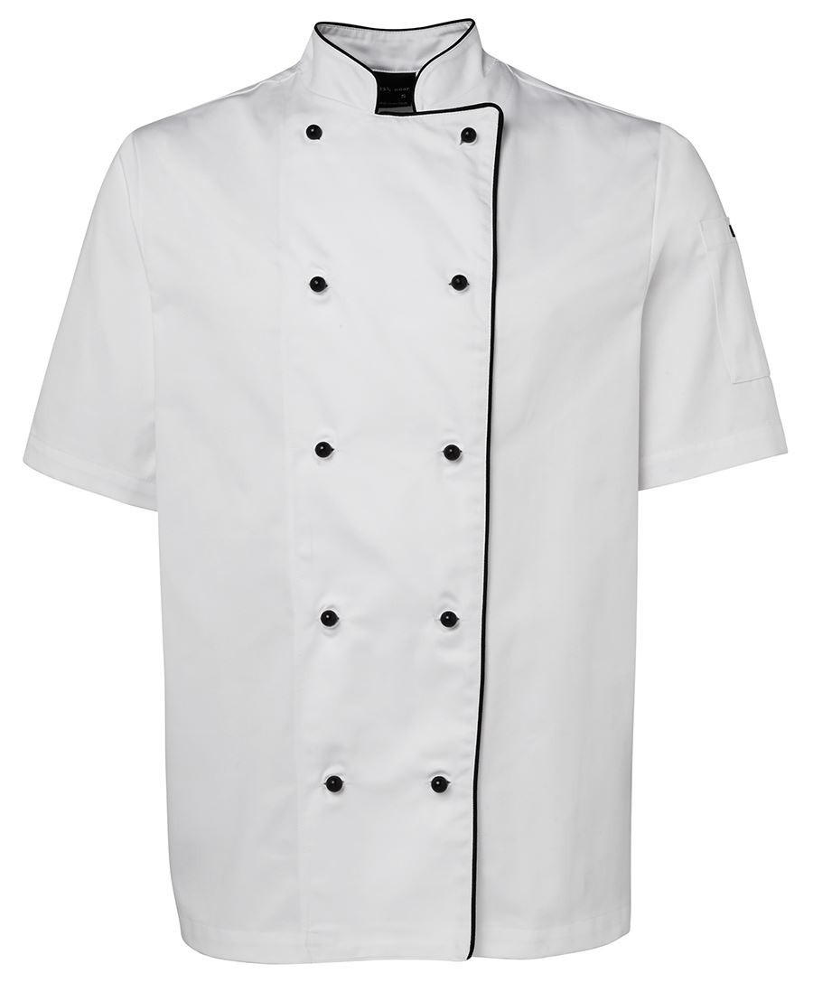 Chefs S/S Jacket (White/Black Piping)