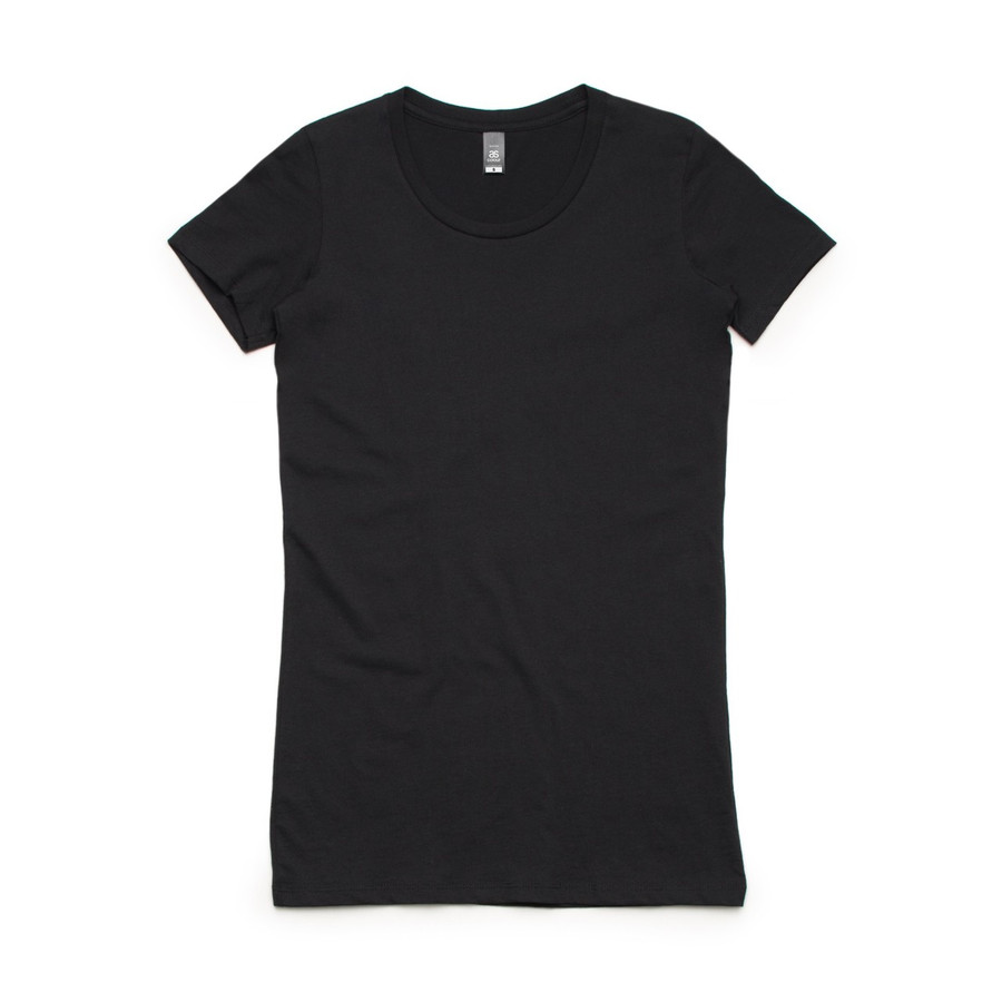 Ladies Wafer T-Shirt  (Black)
