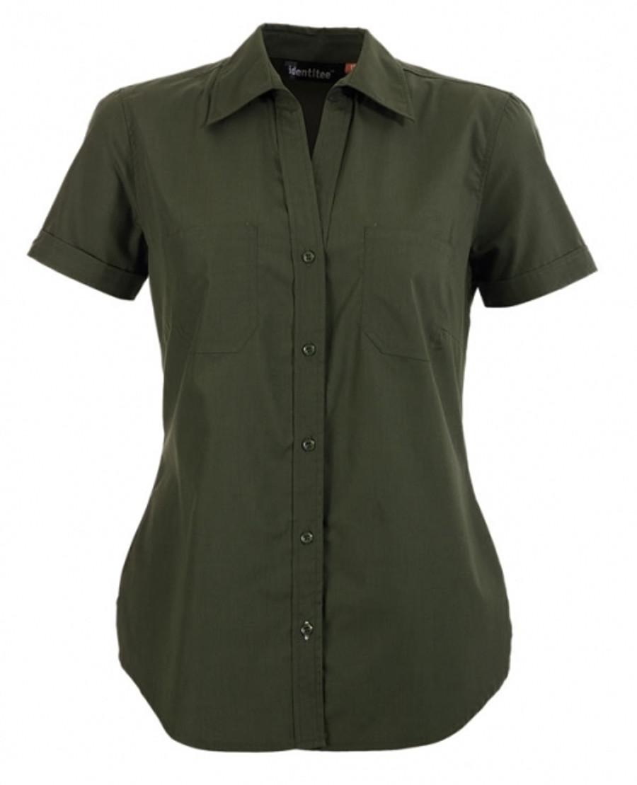 Ladies Harley Business Shirt  (Military)