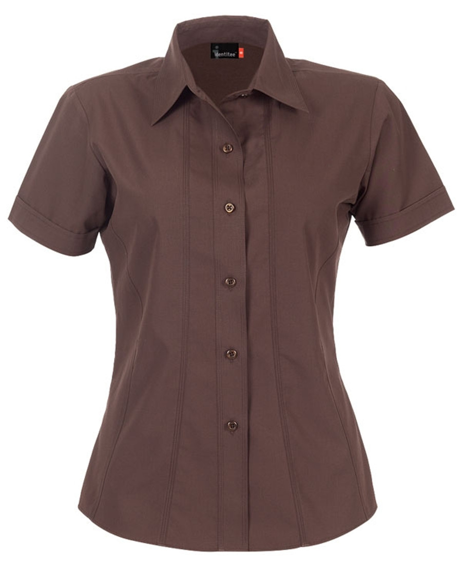 Ladies Aston Business Shirt (Chocolate)