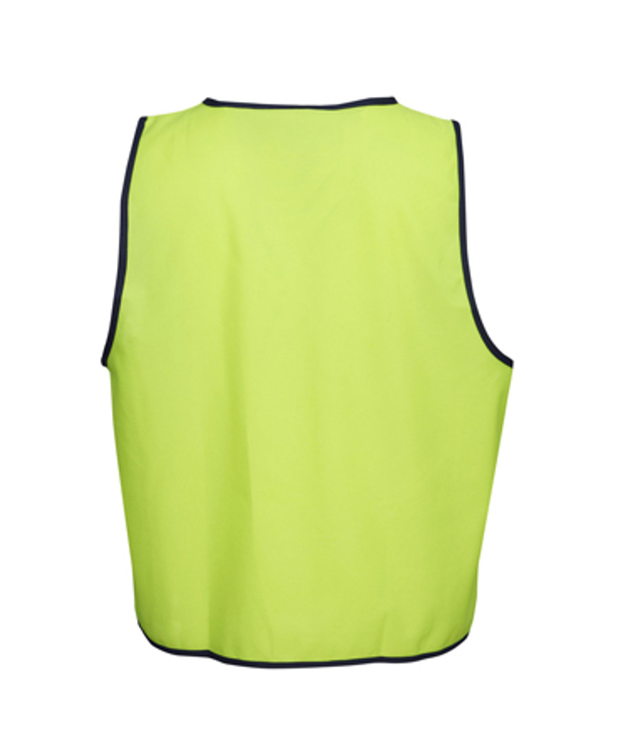 Safety Vest - Fluoro Yellow/Navy (Back)
