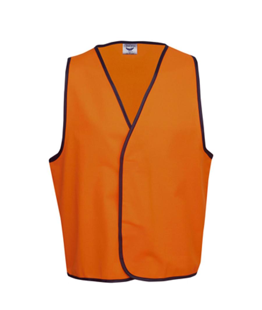 Safety Vest - Fluoro Orange/Navy (Front)