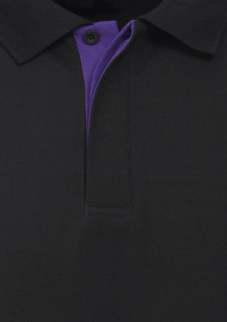 Mens Nitro Polo Shirt  (Black/Purple)