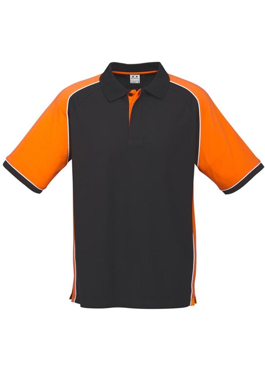 Mens Nitro Polo Shirt (Black/Orange)