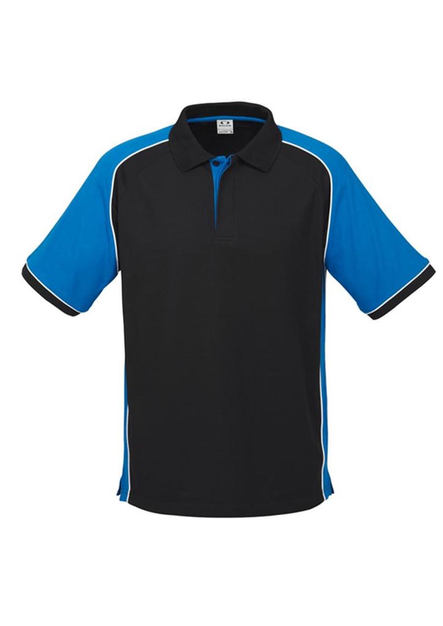 Mens Nitro Polo Shirt (Black/Royal Blue)