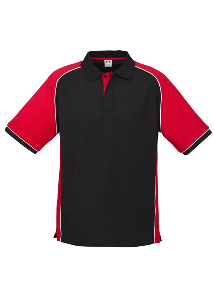 Mens Nitro Polo Shirt (Black/Red)