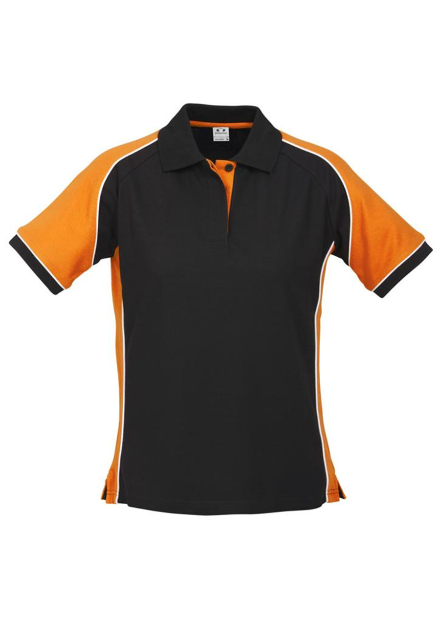 Ladies Nitro Polo (Black/Orange)