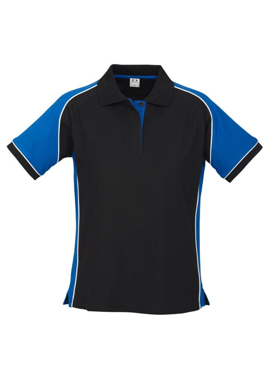 Ladies Nitro Polo (Black/Royal Blue)