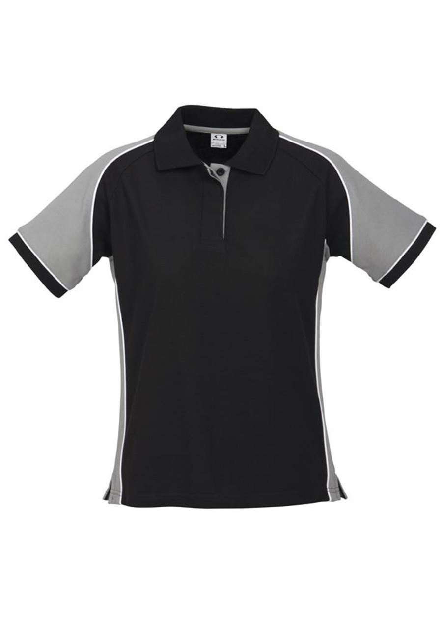 Ladies Nitro Polo  (Black/Grey)