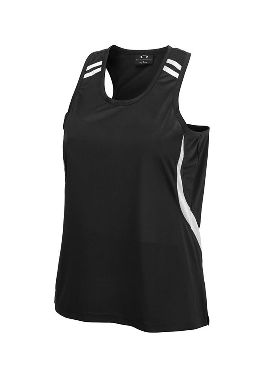 Mens Flash Singlet (Black/White)
