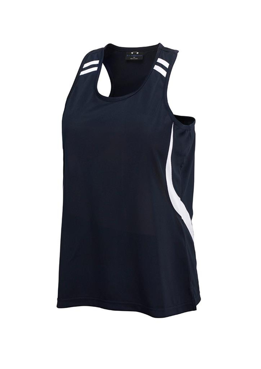 Mens Flash Singlet (Navy/White)