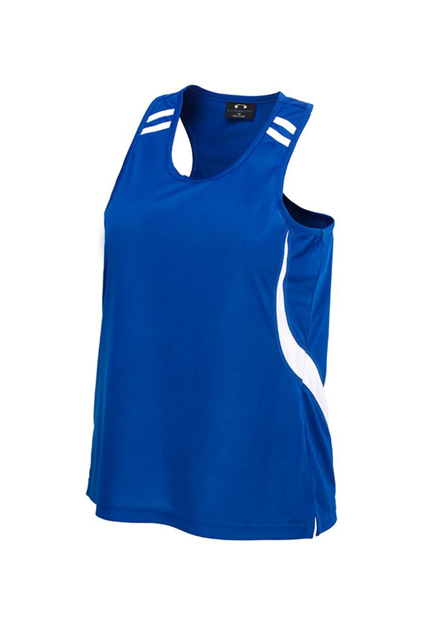 Mens Flash Singlet (Royal Blue/White)