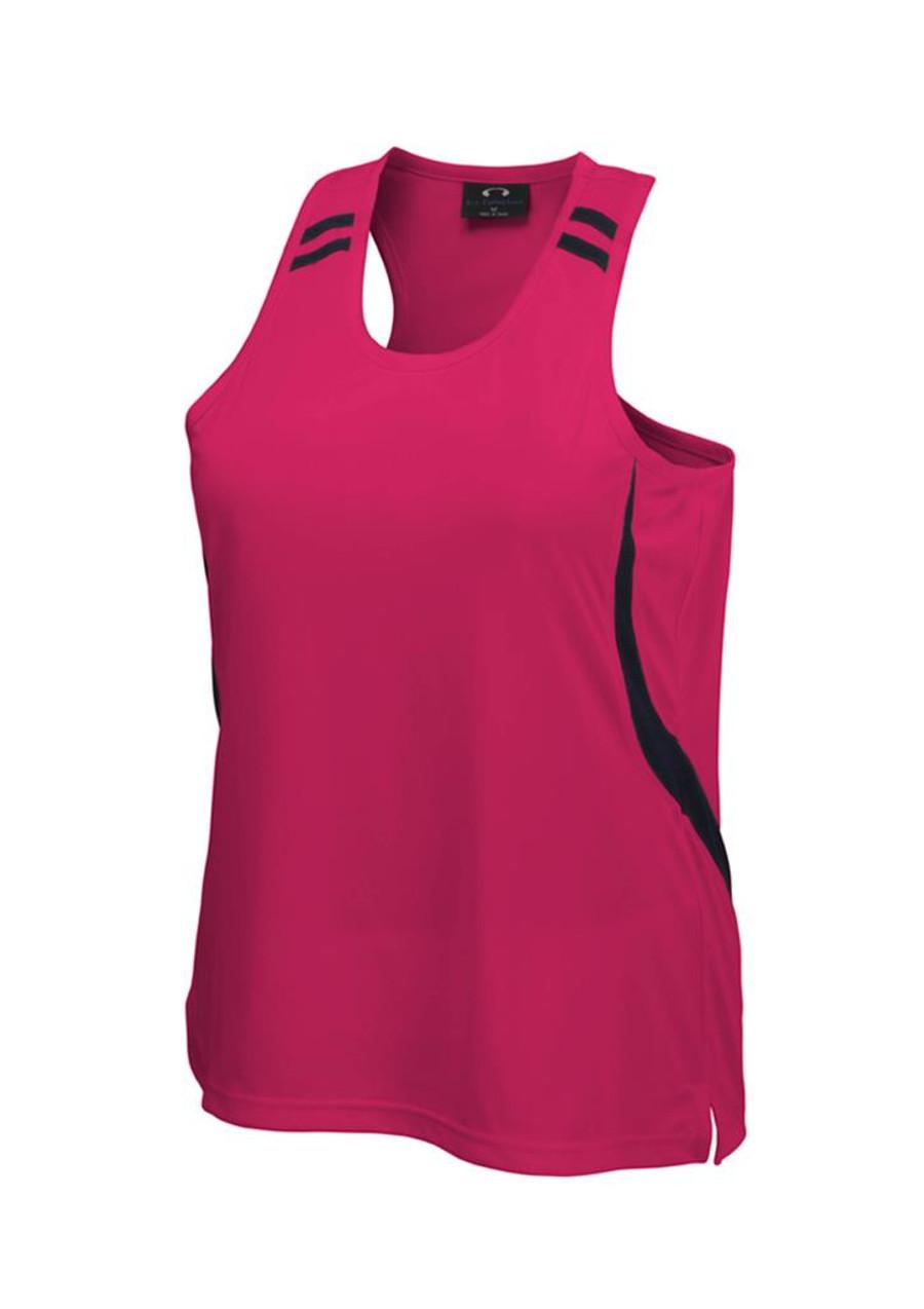 Ladies Flash Singlet (Hot Pink/Black)