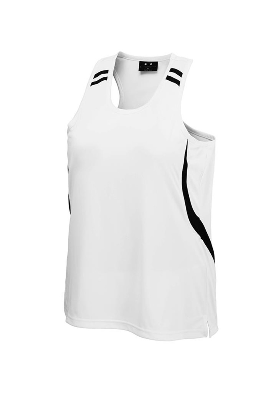 Kids Flash Singlet (White/Black)