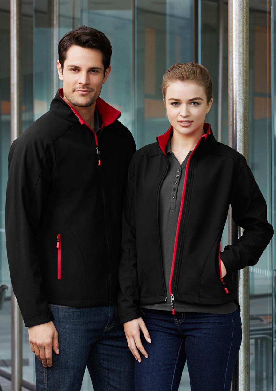 Geneva Jacket (Black/Red)