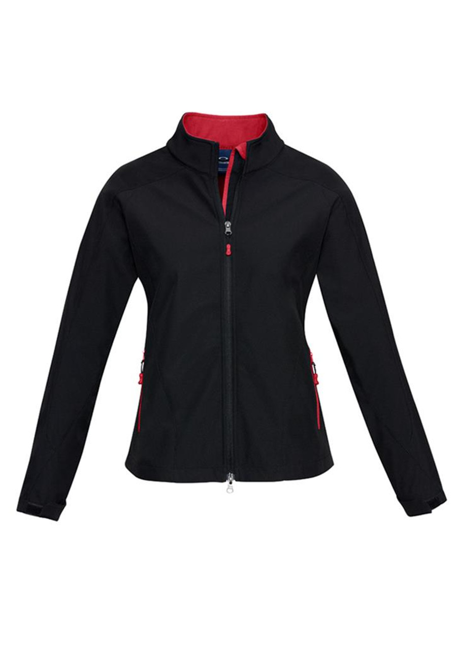 Ladies Geneva Jacket (Black/Red)