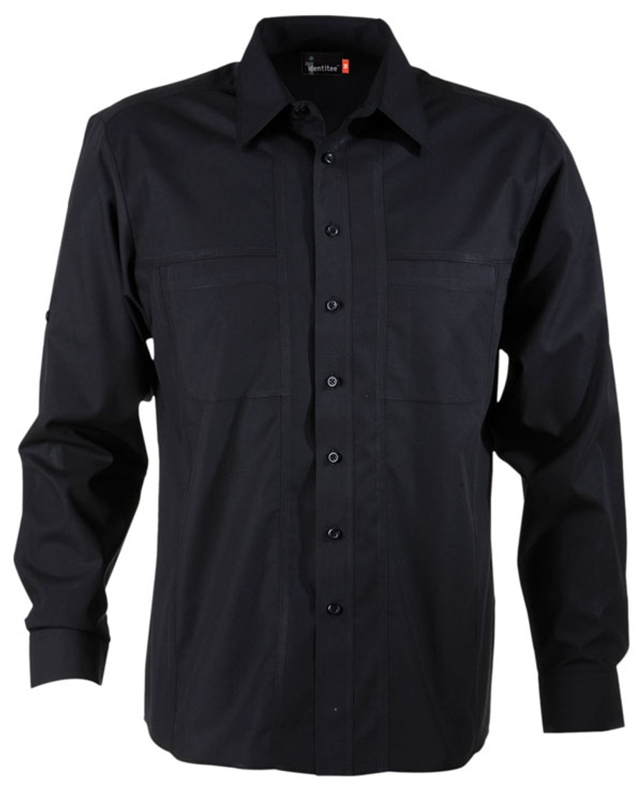 Mens L/S Aston Business Shirt (Black)
