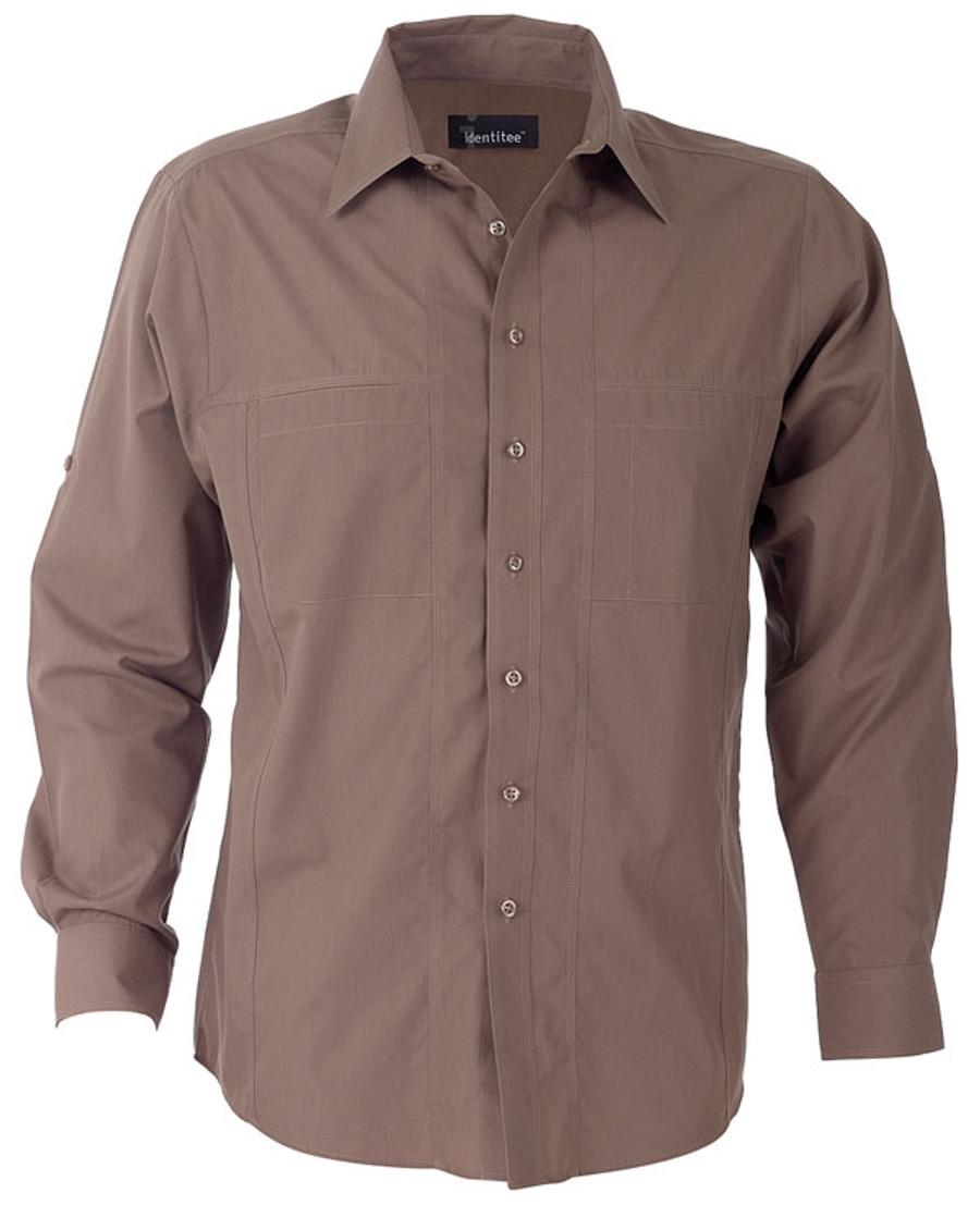 Mens L/S Aston Business Shirt (Mocha)