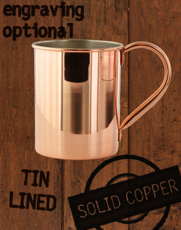 13.5oz Tin-Lined Solid Copper Moscow Mule Mug by Paykoc MM12082/TIN
