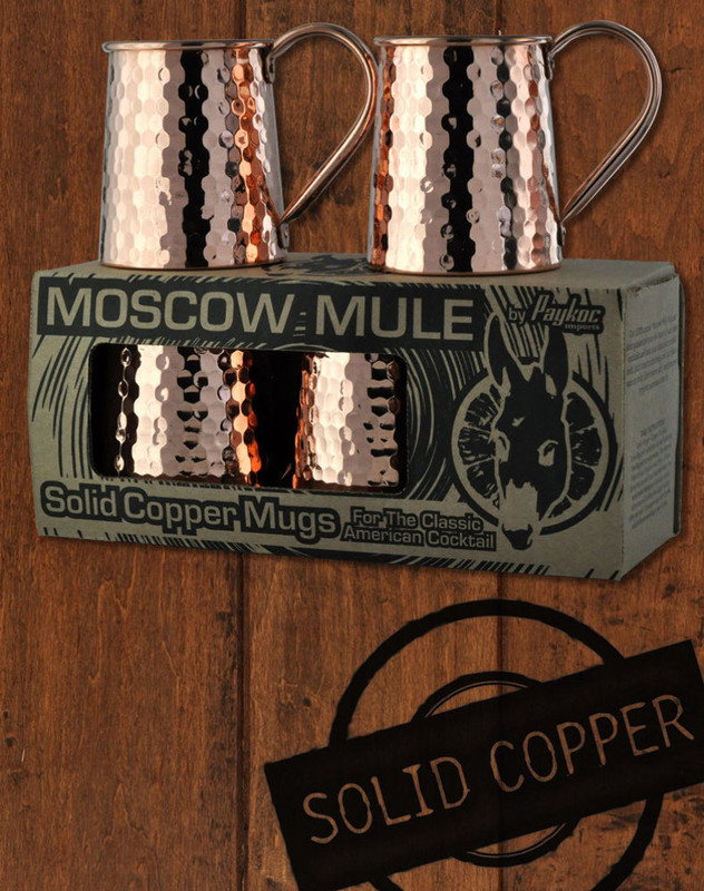 4 Pack - 16oz Solid Copper Hammered Standard Tankard