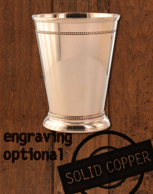 12oz Solid Copper Mint Julep Cup By Paykoc