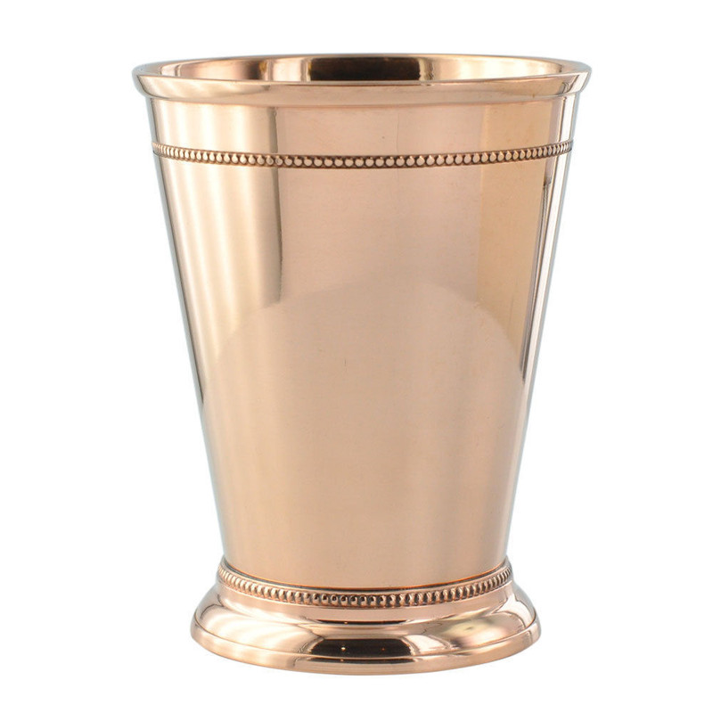 4 Pack - 12oz Solid Copper Mint Julep Cups