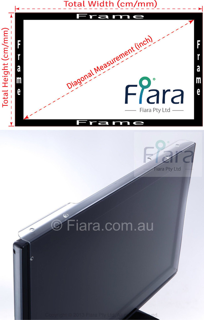 "Fiara Anti-blue Light Screen Filter/Protector | Fits 25"" inch 16:9 Desktop Monitor W580 x H360mm; UV & HEV Blue Light Protection is PROVEN/VERIFIED to protect eye vision by INNOVATION PATENT AUSTRALIA"
