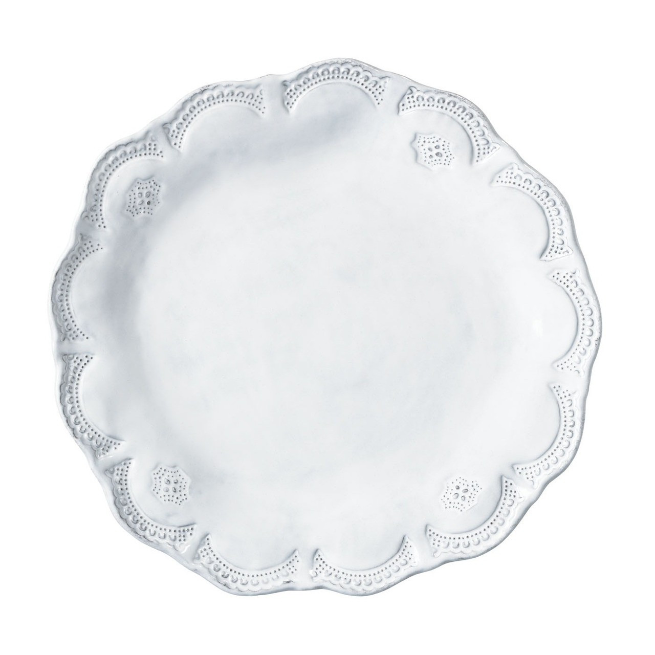 The Incanto White Lace Dinner Plate was inspired by antique lace owned by the artisanu0027s grandmother  sc 1 st  Plum Pudding & Vietri Incanto Lace American Dinner Plate