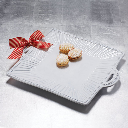 ... Our most popular bridal gift the Incanto White Stripe Square Handled Platter is a VIETRI & Vietri Incanto Stripe Square Handled Platter