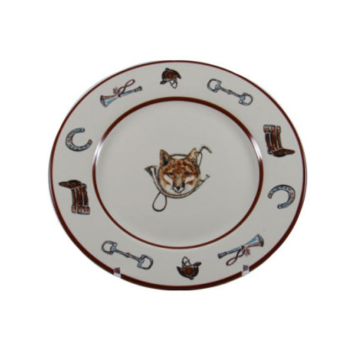C.E. Corey Fox u0026 Horn Salad/Dessert Plate Everyday tableware u0026 serveware features a fox  sc 1 st  Plum Pudding & C.E. Corey Fox u0026 Horn Dinner Plate